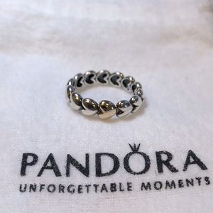 Pandora Two-Tone Heart Ring